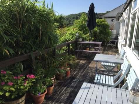 The terrace, The Cottles B&B, Polperro