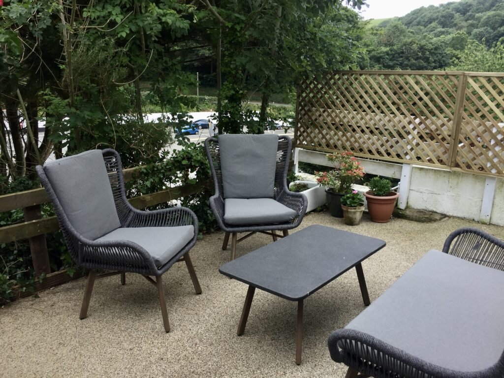 Garden The Retreat self-catering apartment Polperro holiday cottage The Cottles Cornwall